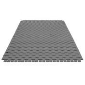 Hey-Sign - Hey-Sign Teppich Geflecht - grau/Filz/5 cm Streifen/Größe 2/140x200cm