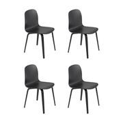Muuto - Visu Chair With Wood Frame Set Of 4