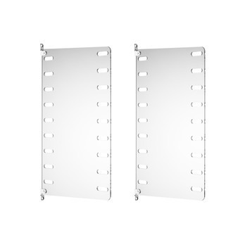 String - String System Wandleiter 50x30cm - transparent/Wandmontage/50x30cm/2er Set