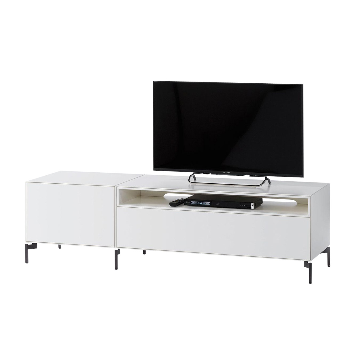 Nex Pur Box Meuble T L 180×50 5x48cm Piure Ambientedirect Com # Meuble Tv Allemand