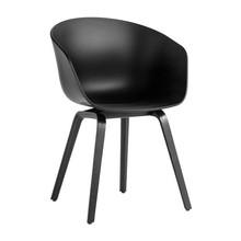 HAY - About a Chair AAC 22 armleunstoel onderstel eiken zwart