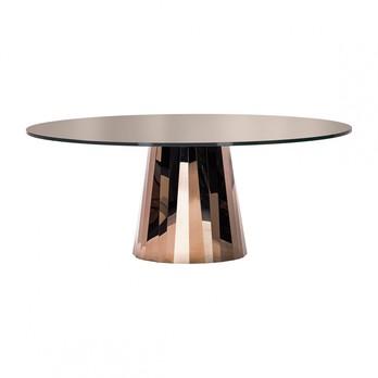 - Pli Esstisch Tischplatte lackiert - pyrit-bronze/Tischplatte vollflächig lackiert/180x140cm