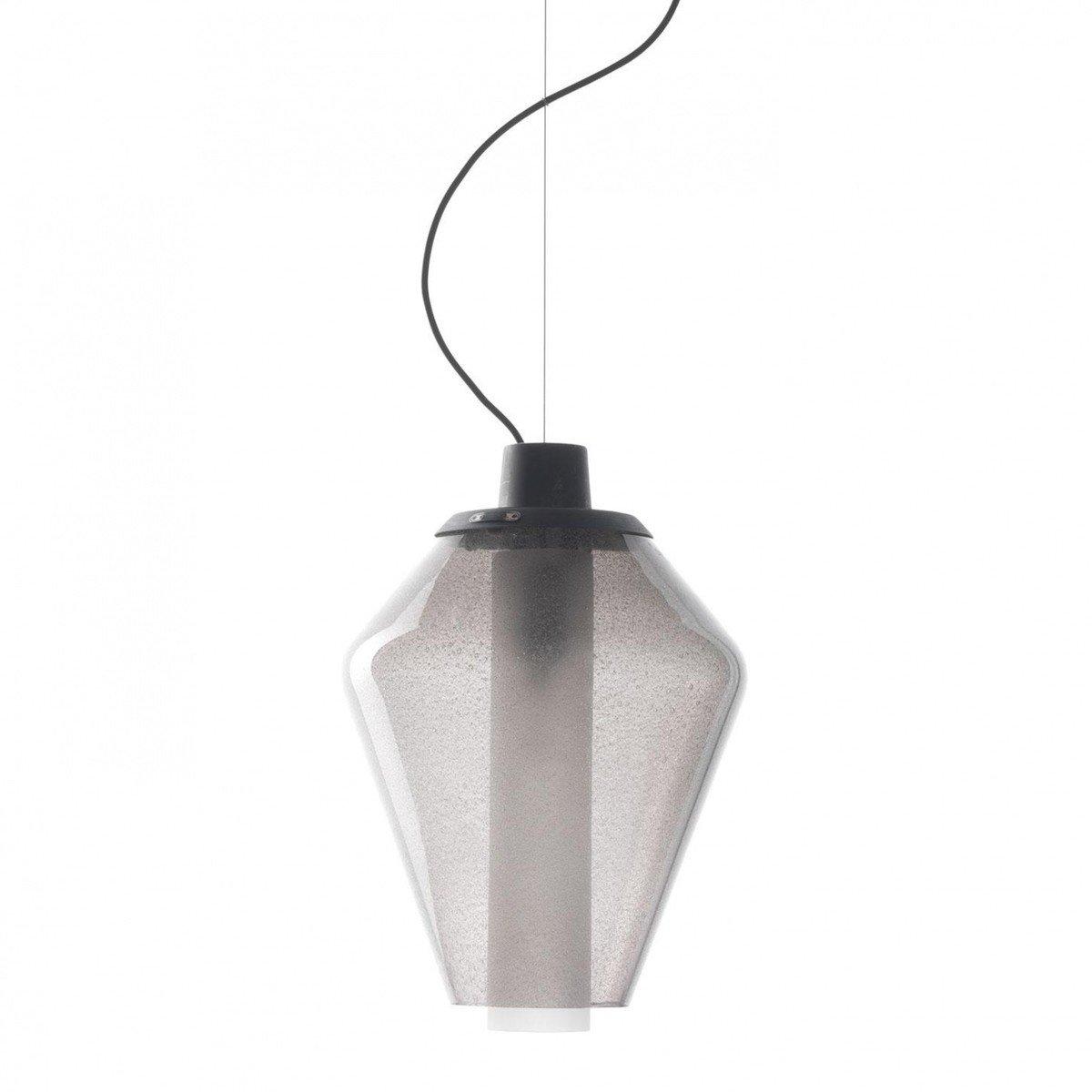 Metal glass 1 suspension lamp diesel for Suspension metal