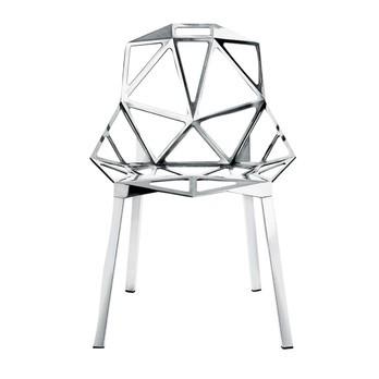 Magis - Chair One Stuhl Stapelbar - aluminium/poliert/Beine aus Profilaluminium poliert/nur für den Innenbereich geeignet!