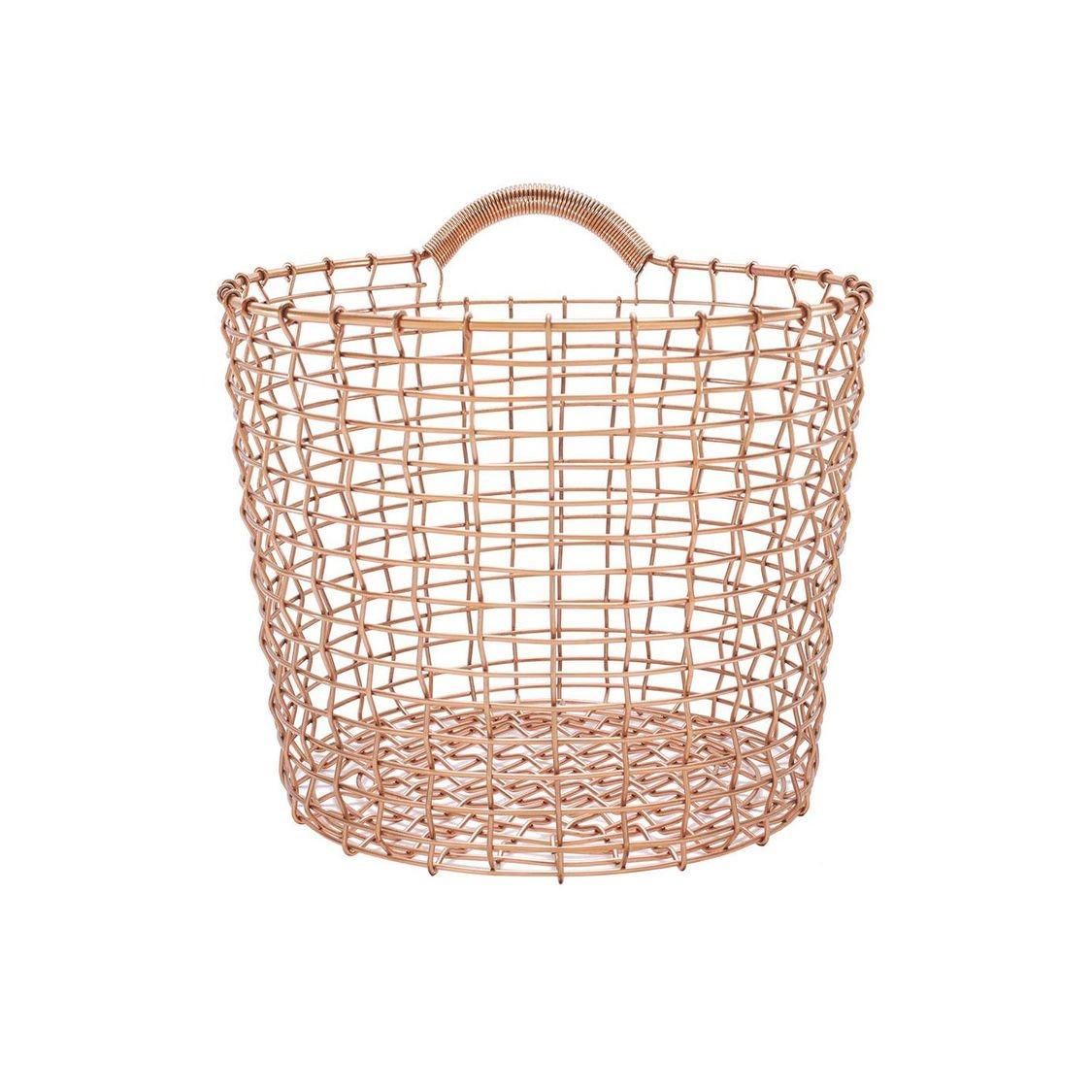 Bin Copper Wire (Wall) Basket | Korbo | AmbienteDirect.com