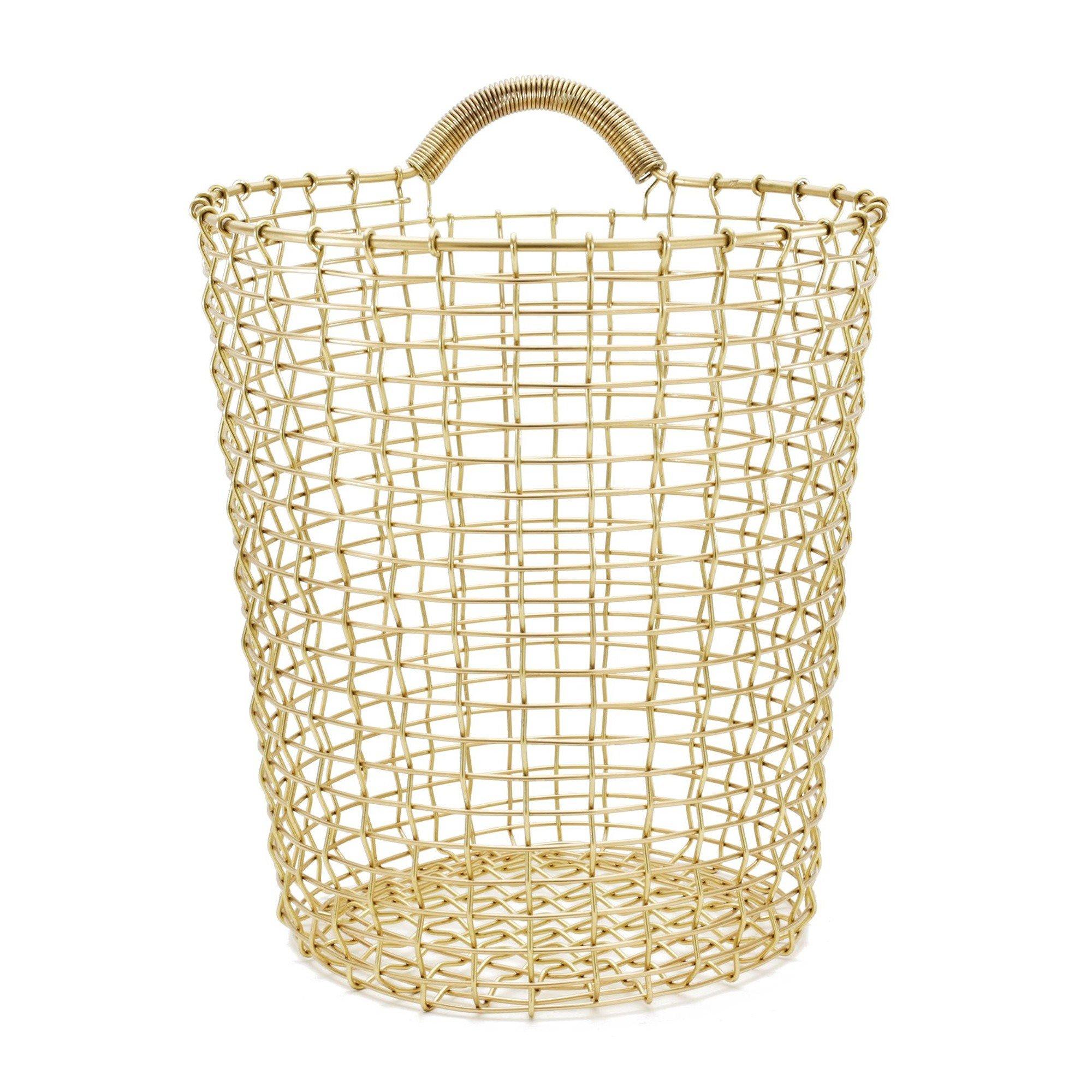 Bin Brass Wire (Wall) Basket | Korbo | AmbienteDirect.com