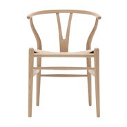 Carl Hansen - Chaise avec accourdoirs Wishbone Classics CH24