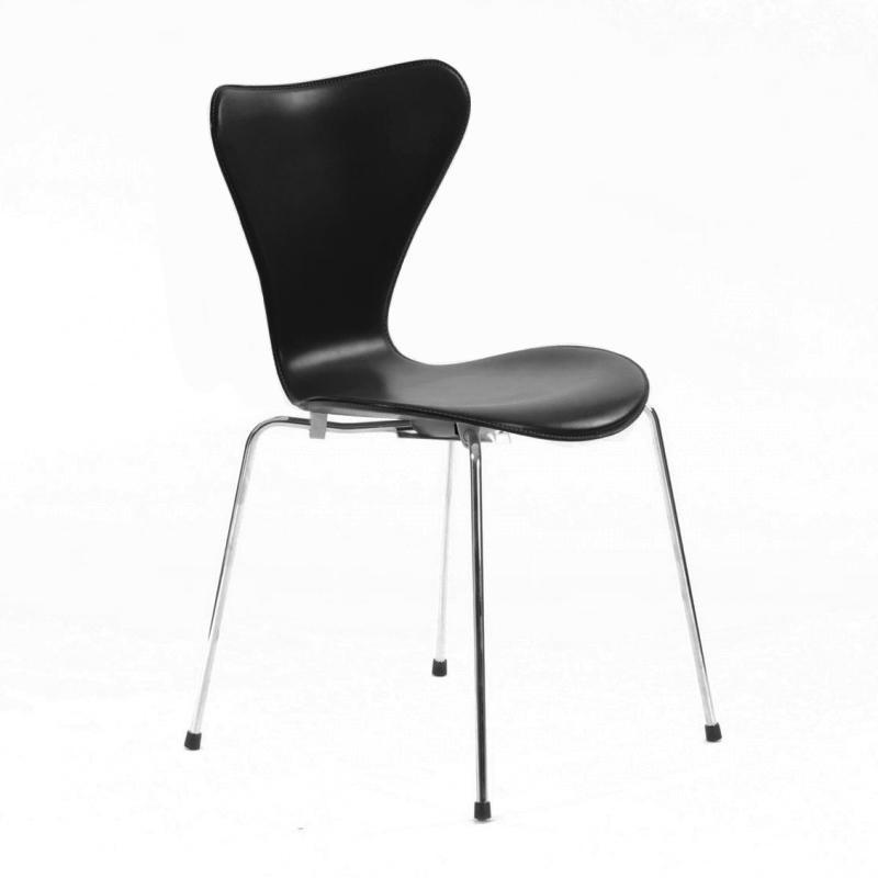 serie 7 stuhl leder vollgepolstert 46 5cm fritz hansen. Black Bedroom Furniture Sets. Home Design Ideas