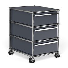 USM Haller - USM Container With Wheels & 3 Drawers