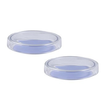 HAY - Bits & Bobs Dot Glasschalen-Set 2tlg. XS - lila/transparent/Ø8cm/H 1.5cm