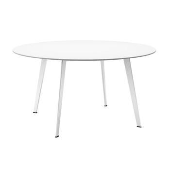 Montana - JW Tisch Ø140cm - seidenweiß/Laminat/Gestell aluminium nordic lackiert
