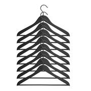 HAY - Soft Coat Slim Kleiderbügel mit Stange 8tlg.