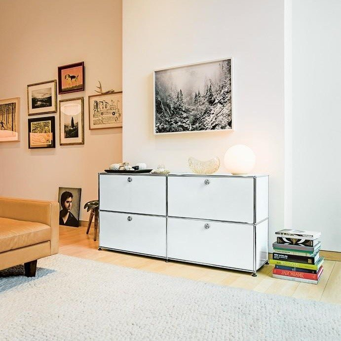 usm m belbausysteme usm haller sideboard mit 4 klappt ren ambientedirect. Black Bedroom Furniture Sets. Home Design Ideas