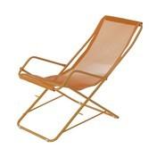 emu - Bahama Liegestuhl | 2te Wahl - pfirsich orange/Gestell orange/matt/defekt/Einzelstück - nur einmal verfügbar!