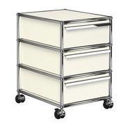 USM  Möbelbausysteme  - USM Rollcontainer mit 3 Schubladen