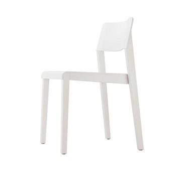 Thonet - Thonet 330 Stuhl  - weiß lasiert/Buche/inkl. Kunststoffgleiter