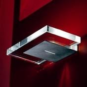 deMajo - Tau A Wandleuchte - Stahl/gebürstet/Diffusor transparent