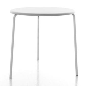Conmoto - Alu Mito Gartentisch Ø80cm - weiß RAL 9003