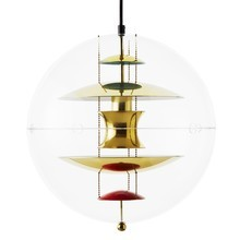 VerPan - VP Globe Brass Suspension Lamp