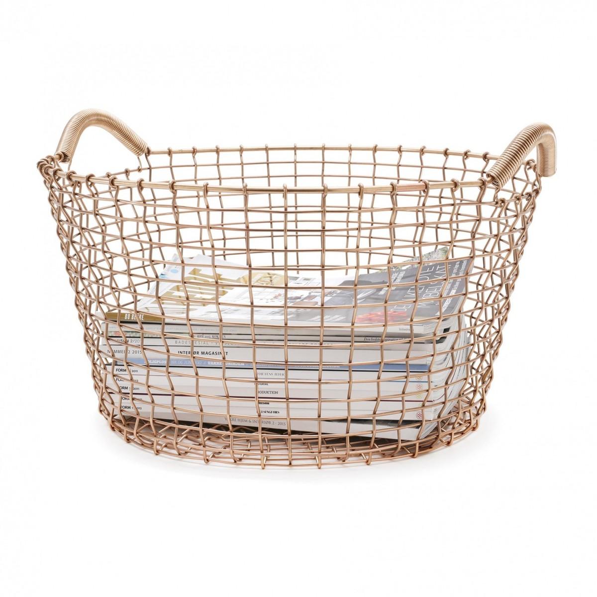 Classic 35 Copper Wire Basket | Korbo | AmbienteDirect.com