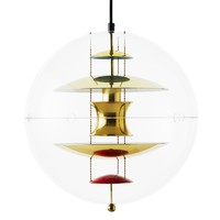 VerPan - VP Globe Brass Suspension Lamp