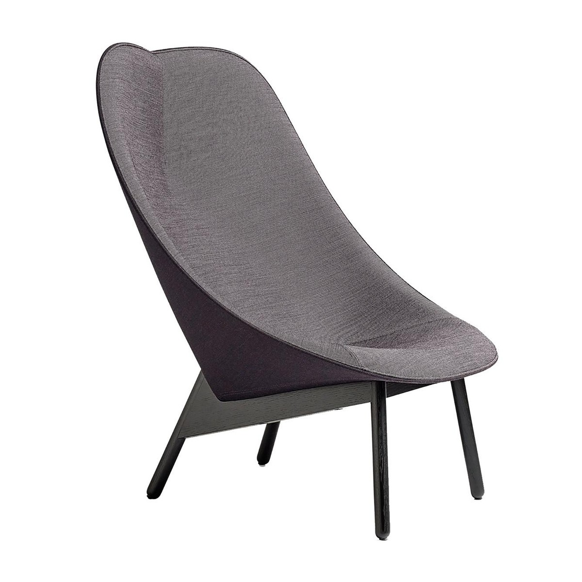 uchiwa lounge chair frame black | hay | ambientedirect, Hause deko