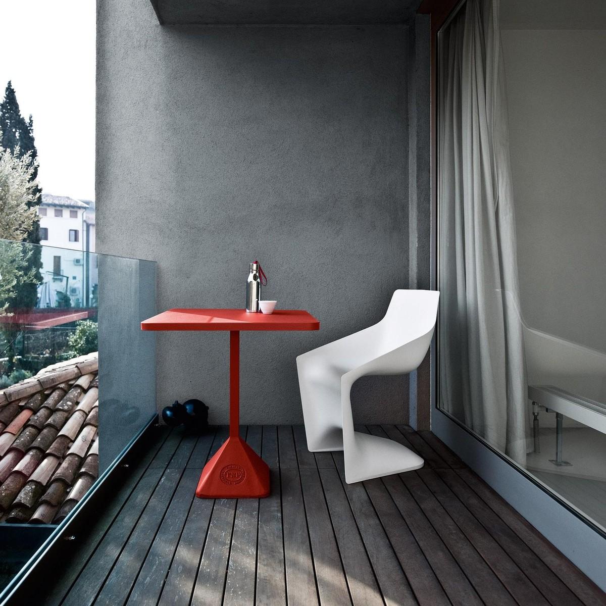 Tnp table de bistro 70x50 70cm kristalia for Design bistrotisch