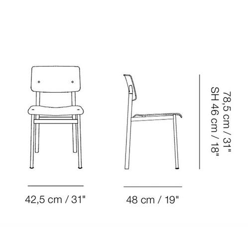 Muuto - Loft Chair Stuhl gepolstert - Strichzeichnung