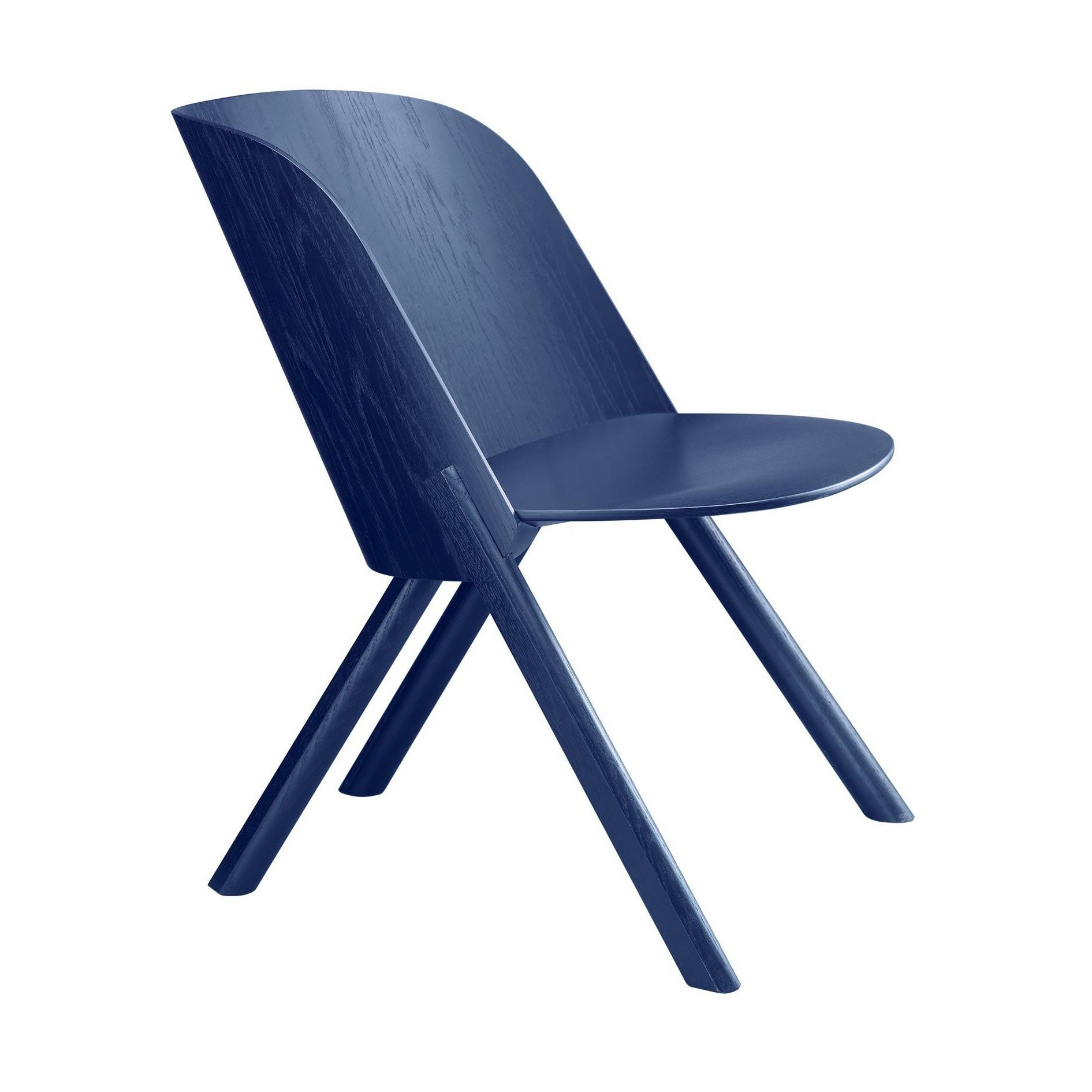 E15 Ec05 That Lounge Chair Ambientedirect Elaine Navy Top Leux Studio S Lacquered