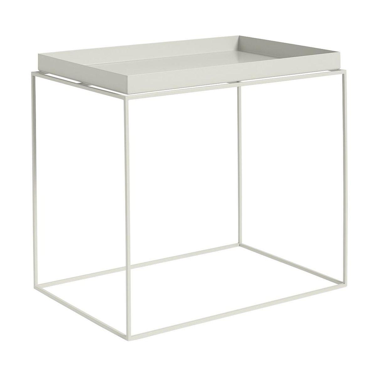 High Quality HAY   Tray Side Table Rectangular   Warm Grey/40x60x54cm