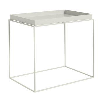 HAY - Tray Table Beistelltisch rechteckig - warmes grau/40x60x54cm