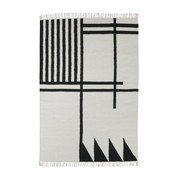 ferm LIVING - Kelim Black Lines Rug large