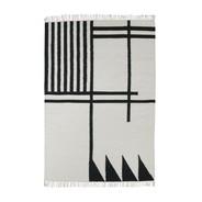 ferm LIVING - Kelim Black Lines Teppich