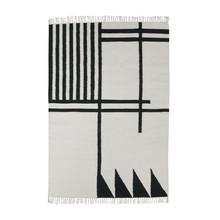 ferm LIVING - Kelim Black Lines Rug large