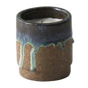 ferm LIVING - Scented Candle Running Duftkerze - blau/Feigenduft/Brennzeit bis zu 70 Stunden/H 10cm/Ø 9cm