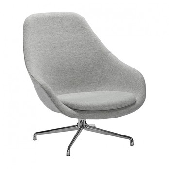 HAY - About a Lounge Chair AAL91 Drehsessel - hellgrau/Stoff Hallingdal 130/Gestell Aluminium/84x101x82cm
