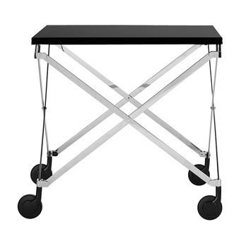 ClassiCon - Sax Beistelltisch höhenverstellbar - schwarz/chrom/Tischplatte Fenix HPL schwarz/höhenverstellbar von 58 bis 74cm