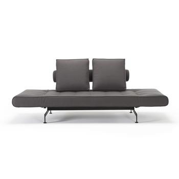 - Ghia Laser Schlafsofa - grau/Stoff 543 Velvet Slate Grey/Gestell schwarz/Füße schwarz pulverbeschichtet