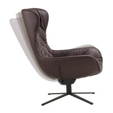Freifrau - Leya Wingback Chair X-Base Rocker-Tilting