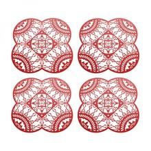 Driade - Italic Lace Petal Coaster Trivet 4 pieces