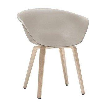 Arper - Duna 02 4203 Stuhl mit Holzgestell - beige/Gestell Eiche