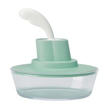 Alessi - Ship Shape butter dish with palette-knife