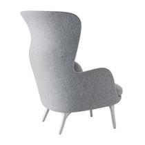 Fritz Hansen - Ro™ Ohrensessel Gestell Aluminium