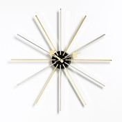 Vitra - Star Clock Nelson Wanduhr - chrom/messing/Ø61cm