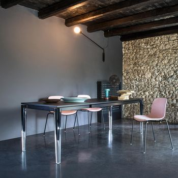 - Calippo Esstisch  - schwarz/Tischgestell transparent/L x B: 200 x 90cm