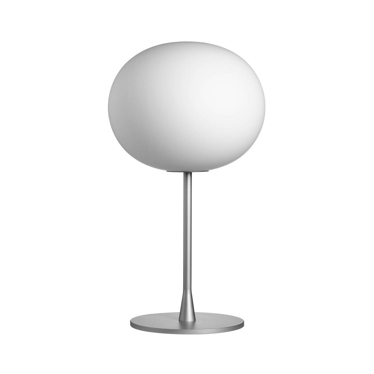 ball table lamp. flos - glo ball t1 table lamp opal/grey/matt/h 60cm m
