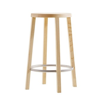 Plank - Blocco Barhocker - esche natur/edelstahl/H: 63cm