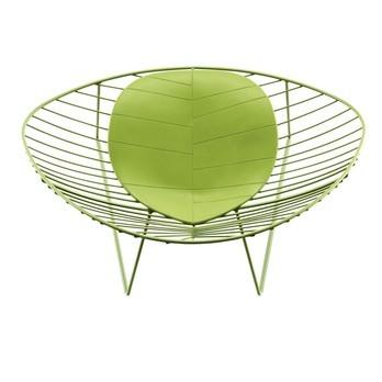 Arper - Leaf Loungesessel - grün/Stahl