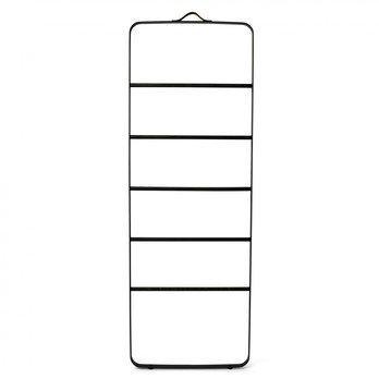 Menu - Menu Comfort Handtuchleiter - schwarz/pulverbeschichtetes Aluminium/Eiche/H: 170cm