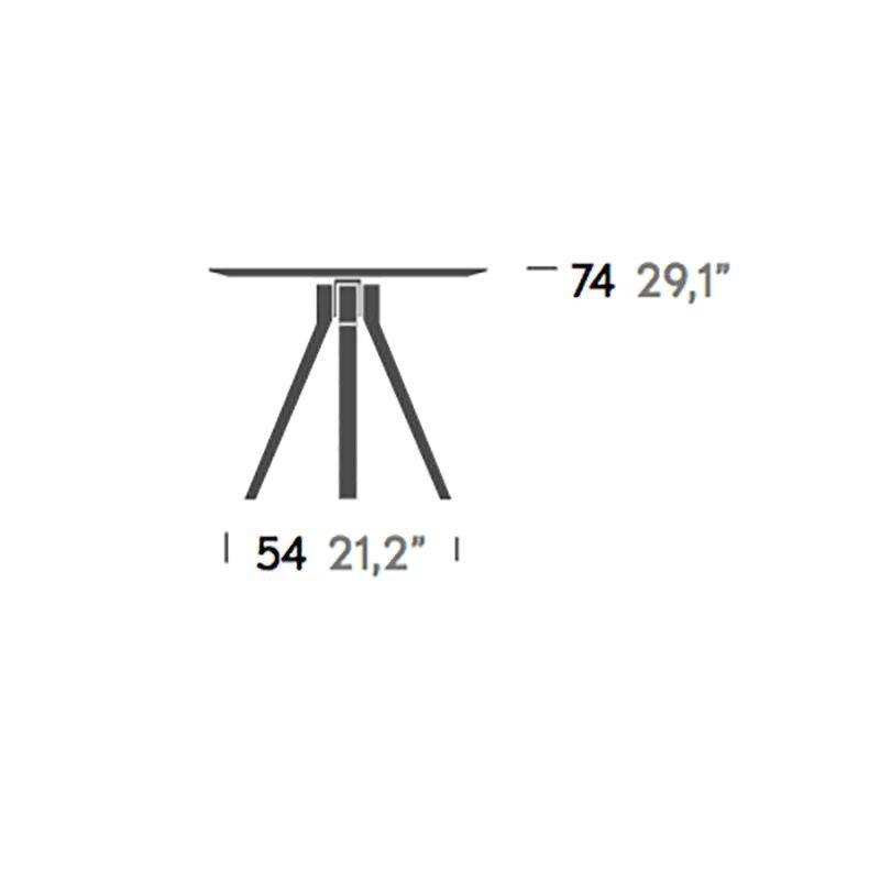 Kettal Vieques - Table de jardin 90x90cm | AmbienteDirect